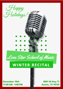 Lone Star School of Music Winter Recital