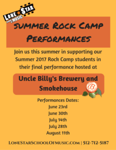 Summer Rock Camp Performances 2017
