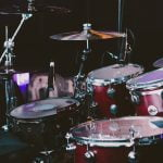 Drum kit for drumming lessons
