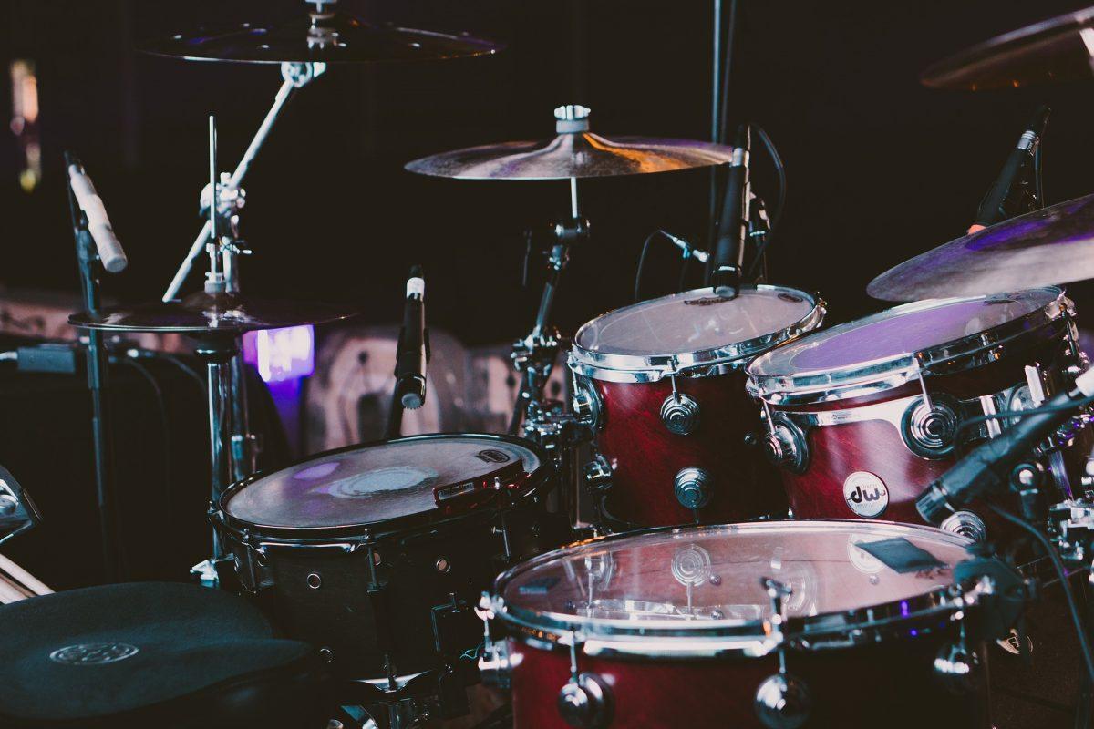Drum kit for drumming lessons